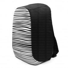 Рюкзак антивор XD-Design BOBBY Bag Compact Print черно-белый